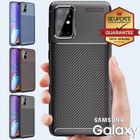 เคส Samsung Galaxy Slim Carbon Kevlar TPU Case สำหรับ S20 / Plus / Ultra / A71 / A51