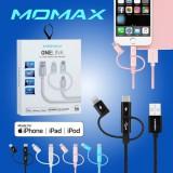 สายชาร์จ 3 in 1 MOMAX One Link Fast Charge / Sync USB Cable (MFI Certified)