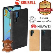 เคสหนังแท้ Huawei P30 Pro Krusell Sunne Cover Vintage