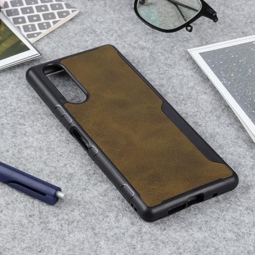 เคส SONY Xperia 5 Leather Skin Hybrid TPU Case