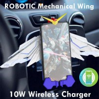 (ชาร์จไว 10 วัตต์) แท่นชาร์จไร้สาย ROBOTIC Mechanical Wing Wireless Charger