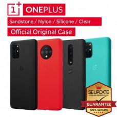 เคสแท้ Oneplus Official Original Sandstone / Nylon / Silicone / Clear Case สำหรับ 8T / 8 / 8 Pro / 7T / 7T Pro / 7 Pro