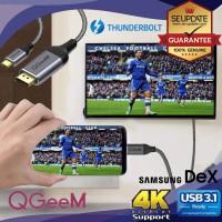 (รับประกัน 1 ปี) QGeem สายแปลง USB Type C to HDMI Cable (4K)