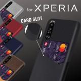 เคส Sony Luxury Leather Soft Canvas Card Slot สำหรับ Xperia 1 III / 10 III / 5 III / 5 II