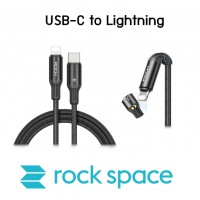 สายชาร์จ/ส่งข้อมูล Rock Space R2 USB-C to Lightning Metal Braided PD Fast Charge & Sync Cable