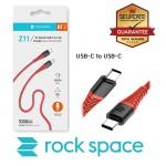 สายชาร์จ/ส่งข้อมูล Rock Space Z11 USB-C to USB-C 3A Charge & Sync Round Cable