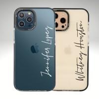 เคสพิมพ์ชื่อ รุ่น Ultra Hybrid สำหรับ iPhone 12 / 12 Pro / 12 Pro max (ข้อความแนวนอน)