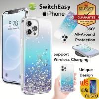 ( ของแท้ ) เคส Switcheasy Starfield Shiny สำหรับ iPhone 12 / 12 Pro / 12 Pro Max [ Crystal ]