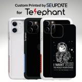 แผ่นพลาสติกกันรอย พิมพ์ลาย Dogecoin #2 สำหรับเคส Telephant NMDer Bumper iPhone 12 / 11 / Pro / Pro Max