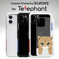 แผ่นพลาสติกกันรอย พิมพ์ลาย Orange Tabby สำหรับเคส Telephant NMDer Bumper iPhone 12 / 11 / Pro / Pro Max