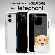 แผ่นพลาสติกกันรอย พิมพ์ลาย Golden Retriever สำหรับเคส Telephant NMDer Bumper iPhone 12 / 11 / Pro / Pro Max