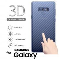 ฟิล์มกันรอยด้านหลัง ลายเคฟล่า สำหรับ Samsung Galaxy S20 / Note 10 / S10 / S9 / S8 / Plus / Ultra / Note 9 / 8