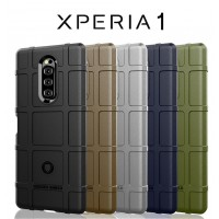 เคส SONY Xperia 1 Rugged Shield Square Grid TPU Case