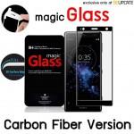 ฟิล์มกระจก  แบบเต็มจอลงโค้ง Magic Glass 3D Glass Screen Protector for Xperia XZ2 Premium (Carbon Fiber Version)