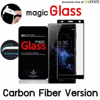 ฟิล์มกระจก  แบบเต็มจอลงโค้ง Magic Glass 3D Glass Screen Protector for Xperia XZ2 Premium (Carbon Fiber Version)