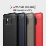 เคส Huawei Mate 20 Pro Carbon Fiber Metallic 360 Protection TPU Case