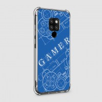 เคส Huawei Mate 20 X Anti-Shock Protection TPU Case [Gamer Illustration Blue]