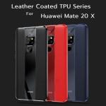 เคส Huawei Mate 20 X Leather Coated TPU Protective Case