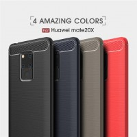 เคส Huawei Mate 20 X Carbon Fiber Metallic 360 Protection TPU Case