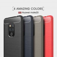 เคส Huawei Mate20 Carbon Fiber Metallic 360 Protection TPU Case