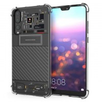 เคส Huawei P20 Pro [Explorer Series] 3D Anti-Shock Protection TPU Case [Transparent]