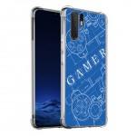 เคส Huawei P30 Pro Anti-Shock Protection TPU Case [Gamer illustration Blue]