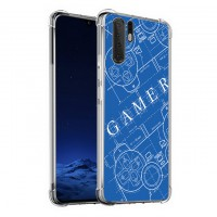 เคส Huawei P30 Pro Anti-Shock Protection TPU Case [Gamer illustration Blue]
