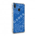 เคส Huawei Y9 Anti-Shock Protection TPU Case [Gamer Illustration Blue]
