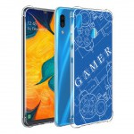 เคส Samsung Galaxy A30 Anti-Shock Protection TPU Case [Gamer Illustration Blue]