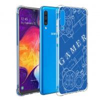 เคส Samsung Galaxy A50 Anti-Shock Protection TPU Case [Gamer Illustration Blue]