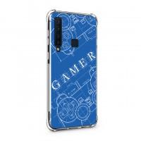 เคส Samsung Galaxy A9 Anti-Shock Protection TPU Case [Gamer Illustration Blue]