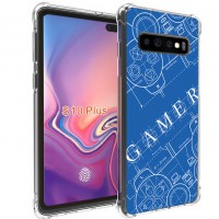 เคส Samsung Galaxy S10 Plus Anti-Shock Protection TPU Case [Gamer Illustration Blue]