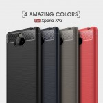 เคส SONY Xperia 10 Carbon Fiber Metallic 360 Protection TPU Case