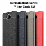 เคส SONY Xperia XA3 Dermatoglyph Full Cover Leather TPU Case