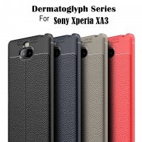 เคส SONY Xperia 10 Dermatoglyph Full Cover Leather TPU Case