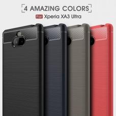 เคส SONY Xperia 10 Plus (10+) Carbon Fiber Metallic 360 Protection TPU Case