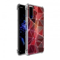 เคส SONY Xperia 10 II Polygon Series 3D Anti-Shock Protection TPU Case [PG004]