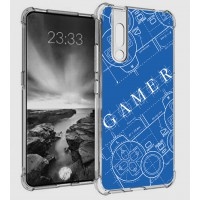เคส Vivo V15 Pro Anti-Shock Protection TPU Case [Gamer Illustration Blue]