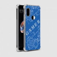 เคส Xiaomi Redmi Note 5 Anti-Shock Protection TPU Case [Gamer Illustration Blue]