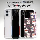 แผ่นพลาสติกกันรอย พิมพ์ลาย LUCKY CAT สำหรับเคส Telephant NMDer Bumper iPhone 12 / 11 / Pro / Pro Max