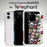 แผ่นพลาสติกกันรอย พิมพ์ลาย SUSHI สำหรับเคส Telephant NMDer Bumper iPhone 12 / 11 / Pro / Pro Max