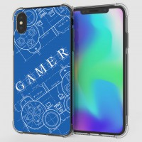 เคส iPhone XS Max Anti-Shock Protection TPU Case [Gamer Illustration Blue]