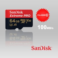 Sandisk Extreme Pro MicroSDHC Class10 U3 A1 V30 Memory Card, 64GB (100 MB/s)