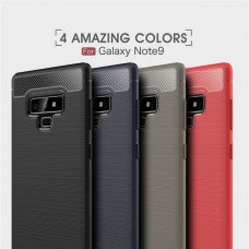 เคส Samsung Galaxy Note 9 Carbon Fiber Metallic 360 Protection TPU Case