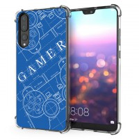 เคส Huawei P20 Pro Anti-Shock Protection TPU Case [Gamer illustration Blue]