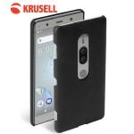 เคสหนังแท้ Xperia XZ2 Premium Krusell Sunne Cover Vintage สีดำ