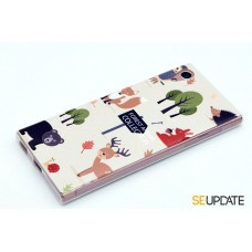 เคส SONY Xperia【SE-Update 】 3D Graphic TPU Case : Forest Animal