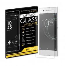 กระจกนิรภัย【SE-Update 】Tempered Glass Defender สำหรับ Xperia XA1 + แถมน้ำยาลดขอบลอย