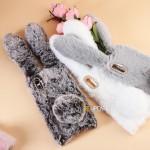 เคสกระต่าย หูยาวขนปุย Xperia XA1 Plus Rabbit Fur Case
