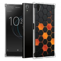 เคส Xperia XA1 Plus Polygon Series 3D Anti-Shock Protection TPU Case [PG002]